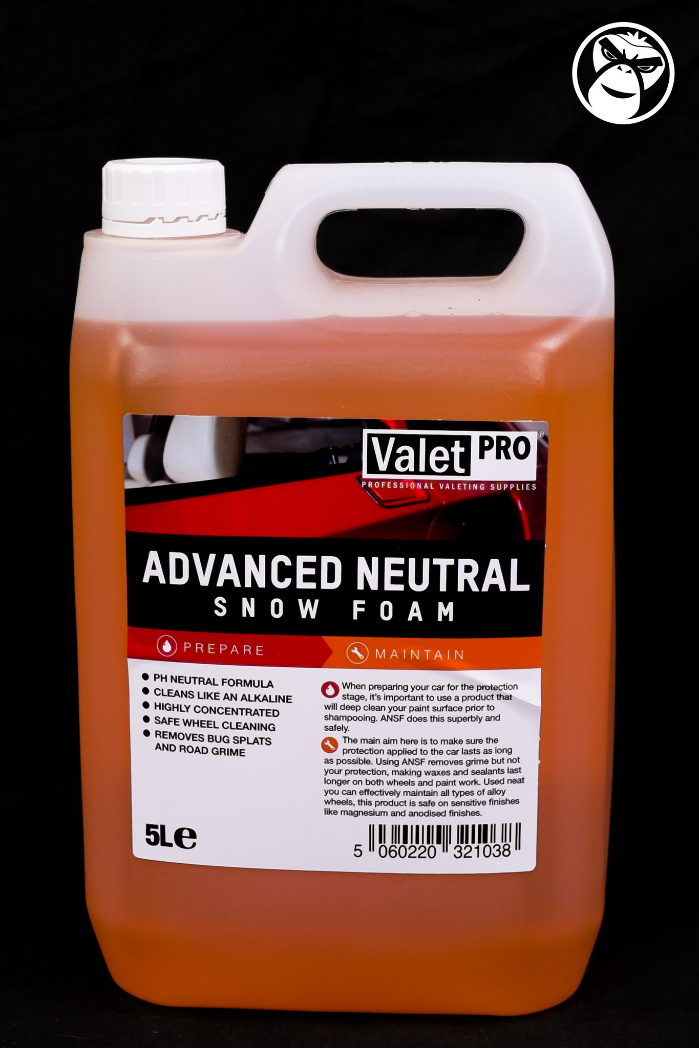 valet pro advanced neutral snow foam 5l detail monkey. Black Bedroom Furniture Sets. Home Design Ideas